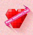 abstract heart banner valentine day vector image