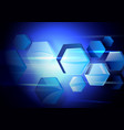 abstract hexagons technology concept background vector image