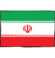 abstract iran flag or banner vector image