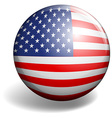 American flag on round badge vector image