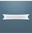 Back to School Text on realistic Tag vector image vector image
