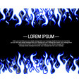 background flame style cartoon blue vector image vector image