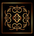beauty scroll antique ornament golden style vector image