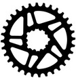 bicycle chainring vector image vector image