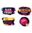 black friday big sale stickers vector image