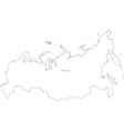 Black White Russia Outline Map