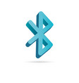 bluetooth 3d icon simple logo of bluetooth sign vector image vector image