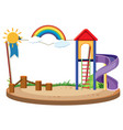 book template with slide in the playground vector image vector image