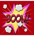 boom comic book style explosion vector image vector image