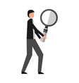 businessman with magnifying glass vector image