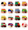 buttock with flag vector image vector image