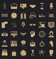 clock icons set simple style vector image vector image
