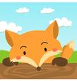 Close up Cute Red Fox Cartoon vector image vector image