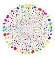 computer display burst spheric cluster vector image vector image