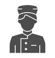 concierge solid icon butler vector image vector image
