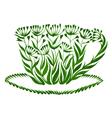 decorative ornament teacup vector image