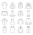 Different clothes icons set outline style vector image vector image
