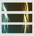 electric hi-tech abstract modern banner set vector image vector image