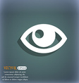 Eye icon On the blue-green abstract background vector image