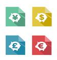 flat piggy bank currency exchange vector image