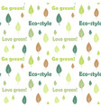 forest tree seamless pattern light colors vector image vector image