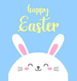 funny cartoon card with hare happy easter vector image vector image