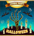 Halloween - Dead Mans arms from the ground with