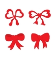 Hand drawn sketch of red festive bows in the shape vector image vector image