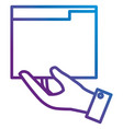 hand with file folder documents icon vector image vector image