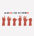 hands gestures isolated on white background vector image