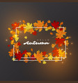 hello autumn leaves background vector image
