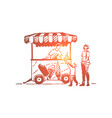 ice cream car child truck sweet concept vector image vector image