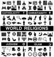icons for world religions vector image vector image