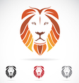 image of an lion head vector image vector image