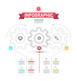 infographic elements with cogs - wheals vector image vector image