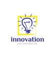 innovation logo designs for inspiration vector image