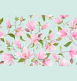 magnolia floral seamless pattern vector image