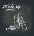 makeup on the blackboard vector image vector image