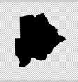 map botswana isolated black vector image vector image
