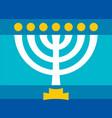 menorah ancient hebrew sacred seven-candleholder vector image vector image