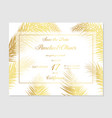minimalist botanical wedding invitation card vector image vector image