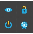 Modern colorful flat social icons vector image vector image