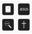 modern religion icons set vector image vector image