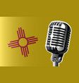 new mexico flag and microphone vector image vector image