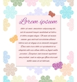 Pastel ornament postcard vector image