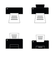 printer black and white vector image