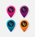 realistic color pointer beach flip flops vector image vector image