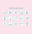 set bathroom icons vector image vector image