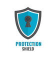shield security icon protection logo shield vector image vector image