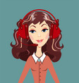 smiling call center woman operator vector image vector image
